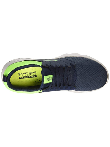 Skechers Men's Go Run Focus-Athos Shoes(Colour May Vary)-NAVY LIME LIME-9-1