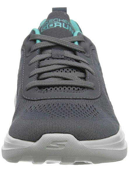 Skechers Women's Go Run Fast-15107 Sneaker (Colour May Vary)-CHARCOAL TURQUOISE-6-1