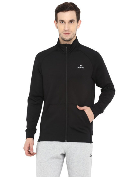 Alcis Men Solid Black Jacket Mjkaw281-11860
