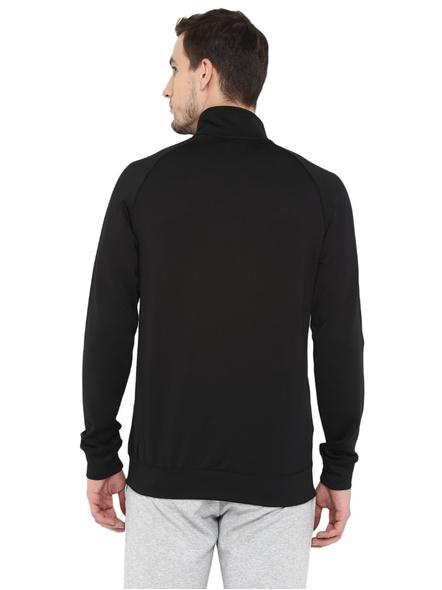 Alcis Men Solid Black Jacket Mjkaw281-Xxl-Black-2