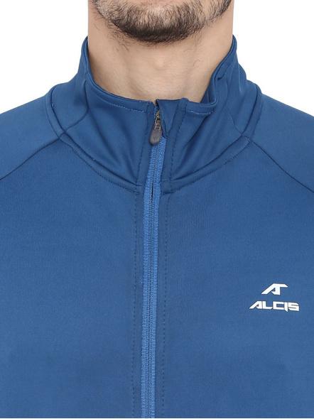 Alcis Men Solid Blue Jacket Mjkaw282-Deep Blue-Xxl-1