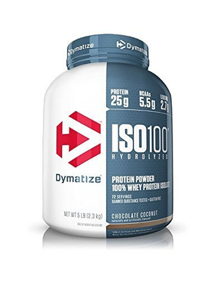 Dymatize Nutrition Iso 100 Whey Protein Powder Isolate 5 Lbs-3467