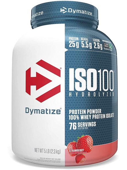 Dymatize Nutrition Iso 100 Whey Protein Powder Isolate 5 Lbs-5168