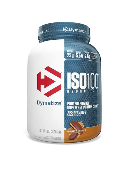 Dymatize Nutrition Iso 100 Whey Protein Powder Isolate 3 Lbs-6902