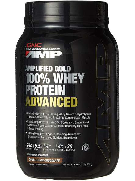 Gnc Amp Amplified Gold 100% Whey Protein Advanced 2 Kg-6903