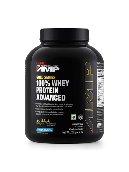 Gnc Amp Amplified Gold 100% Whey Protein Advanced 2 Kg-19110