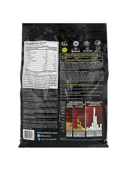 Muscletech Nitrotech 100% Whey Gold Whey Protien Blend 2.5 Lbs-DOUBLE RICH CHOCLATE-8 Lbs-1