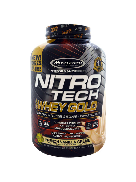 Muscletech Performance Series Nitrotech Whey Gold (whey Protein Peptides & Isolate, 24g Protein, 5.5g Bcaas, 4g Glutamine, Gluten Free, Post-workout) - 5.54lbs, 2.51kg 5.5 Lbs-4614