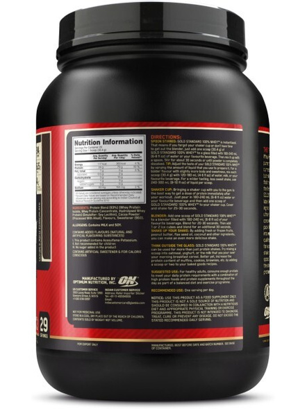 Optimum Nutrition Gold Standard 100% Whey Protein 2 Lbs-DOUBLE RICH CHOCLATE-2 Lbs-1