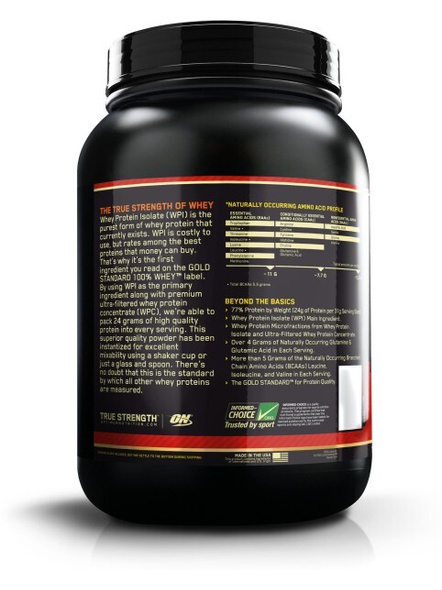 Optimum Nutrition Gold Standard 100% Whey Protein 2 Lbs-DELICIOUS STRAWBERRY-2 Lbs-1