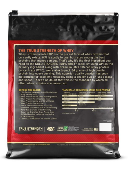 Optimum Nutrition Gold Standard 100% Whey Protein 10 Lbs-DELICIOUS STRAWBERRY-10 Lbs-1
