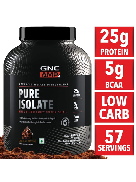 Gnc Amp Pure Isolate 2 Kg-CHOCOLATE-2 Kg-1