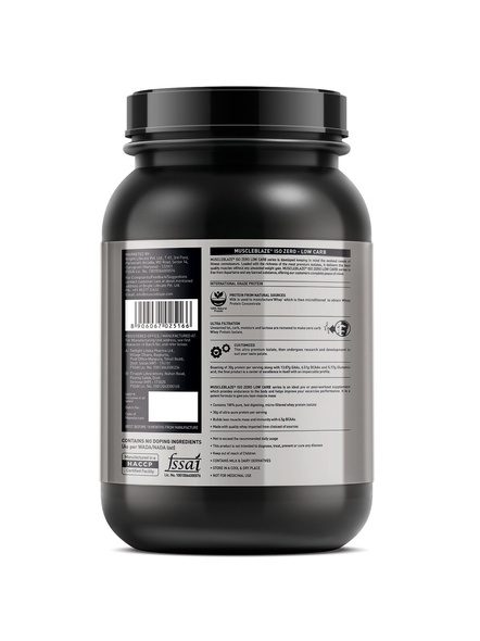 Muscleblaze Iso-zero Low Carb 100% Whey Protein Isolate 1 Kg-CHOCOLATE-1 Kg-1