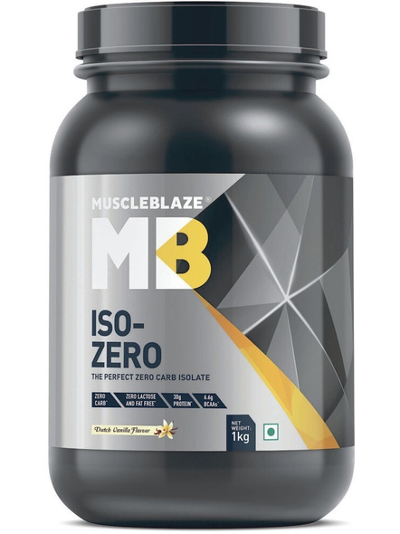 Muscleblaze Iso-zero Low Carb 100% Whey Protein Isolate 1 Kg-3795