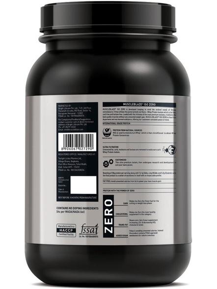 Muscleblaze Iso-zero Low Carb 100% Whey Protein Isolate 1 Kg-DUTCH VANILLA-1 Kg-1