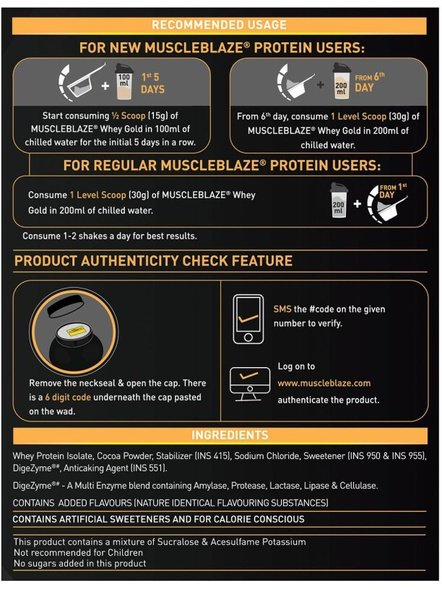 Muscleblaze Whey Gold Isolate 4.4 Lbs-RICH MILK CHOCOLATE-4.4 Lbs-2
