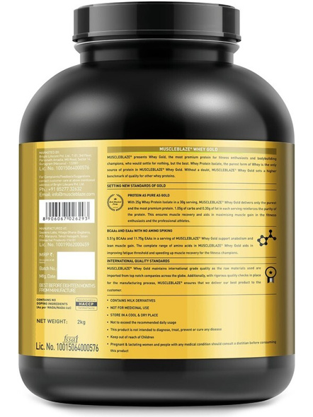 Muscleblaze Whey Gold Isolate 4.4 Lbs-GOURMET VANILLA-4.4 Lbs-1