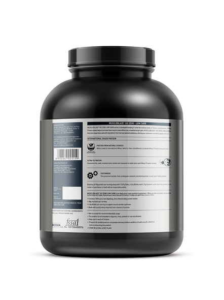 Muscleblaze Iso-zero Low Carb 100% Whey Protein Isolate 2 Kg-CHOCOLATE-2 Kg-1