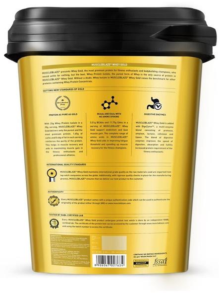 Muscleblaze Whey Gold Isolate 8.8 Lbs-RICH MILK CHOCOLATE-8.8 Lbs-1