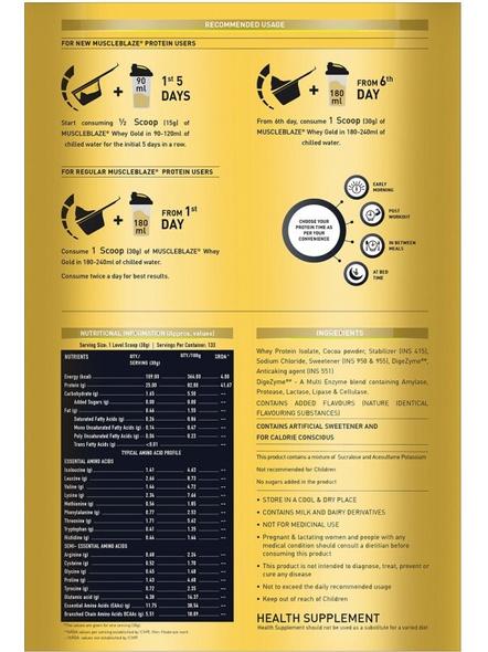 Muscleblaze Whey Gold Isolate 8.8 Lbs-RICH MILK CHOCOLATE-8.8 Lbs-2