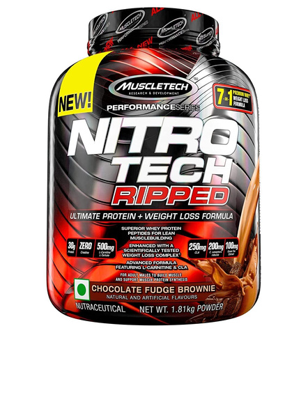Muscle Tech Performance Series Nitrotech Ripped (pre & Post-workout, 30g Protein, 0 Creatine, 250g Cla, 200mg C. Canephora Robusta) – 4 Lbs (1. 81 Kg) 4 Lbs-1086