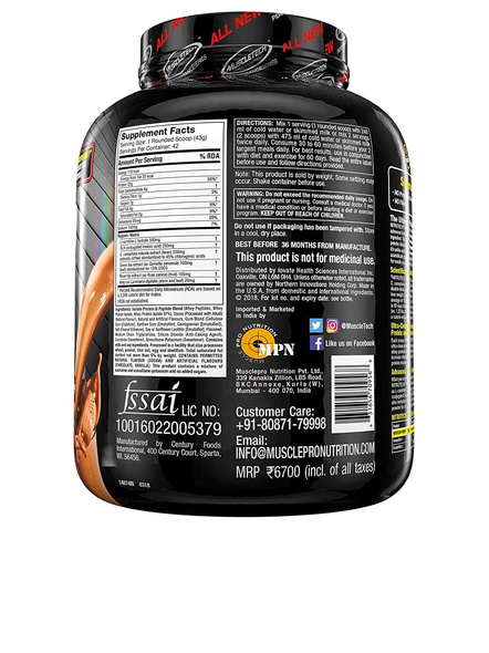 Muscle Tech Performance Series Nitrotech Ripped (pre & Post-workout, 30g Protein, 0 Creatine, 250g Cla, 200mg C. Canephora Robusta) – 4 Lbs (1. 81 Kg) 4 Lbs-CHOCOLATE FUDGE BROWINE-4 Lbs-2