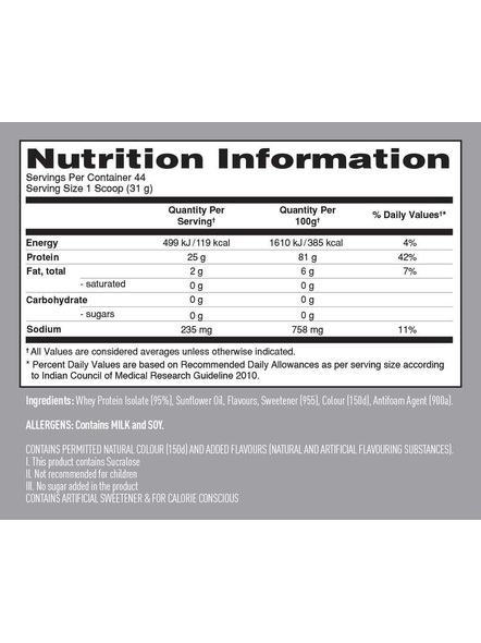 Isopure 100% Whey Protein Isolate Powder 3 Lbs-3 Lbs-STRAWBERRIES AND CREAM-2