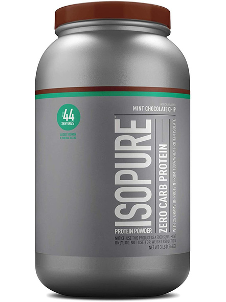 Isopure 100% Whey Protein Isolate Powder 3 Lbs-1274