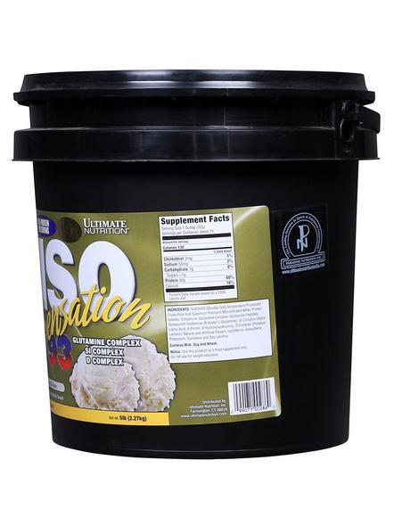 Ultimate Nutrition Iso Sensation 93 - 5 Lbs-VANILLA BEAN-5 Lbs-1