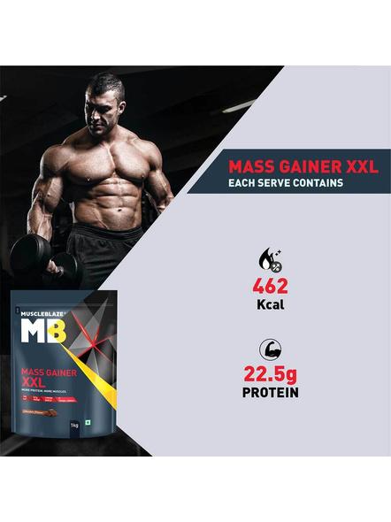 Muscleblaze Mass Gainer Xxl Mass Gainer 1 Kg-CHOCOLATE-1 Kg-1