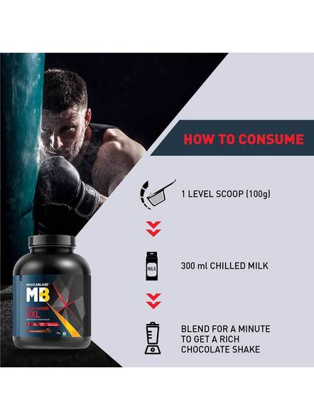 Muscleblaze Mass Gainer Xxl Mass Gainer 3 Kg-CHOCOLATE-3 Kg-1