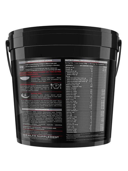 Muscleblaze Mass Gainer Xxl Mass Gainer 5 Kg-CHOCOLATE-5 Kg-2
