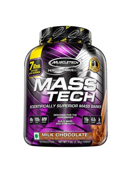 Muscletech Performance Series Mass Tech (intra-workout, 60g Protein, 132g Carbs, 820 Calories, 13g Bcaas) - 7 Lbs (3.18 Kg)-1525