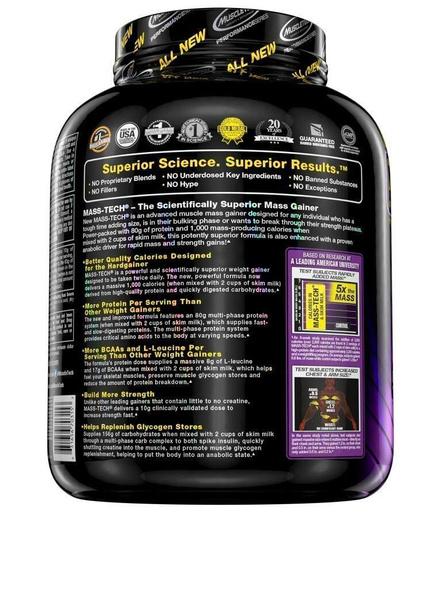 Muscletech Performance Series Mass Tech (intra-workout, 60g Protein, 132g Carbs, 820 Calories, 13g Bcaas) - 7 Lbs (3.18 Kg)-MILK CHOCOLATE-7.00 Lbs-2