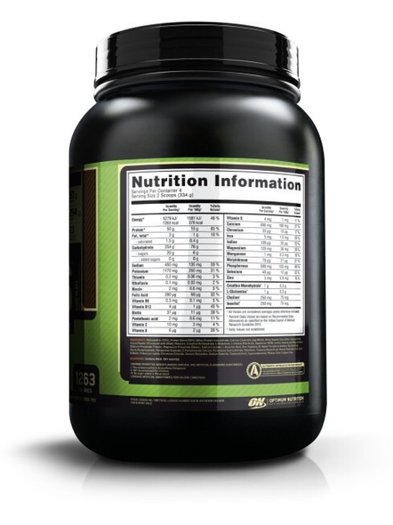 Optimum Nutrition Serious Mass Weight Gainers/mass Gainers 3 Lbs-3289