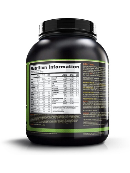 Optimum Nutrition Serious Mass Weight Gainers/mass Gainers 6 Lbs-CHOCOLATE-6 Lbs-1