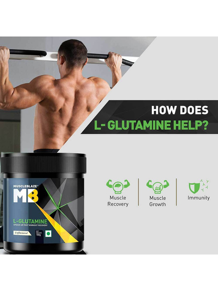 Muscleblaze Micronized Glutamine Muscle Recovery 0.22 Lbs-UNFLAVORED-0.22 Lbs-1