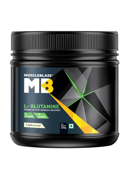 Muscleblaze Micronized Glutamine Muscle Recovery 0.55 Lbs-1527