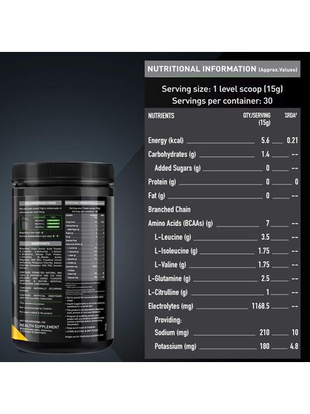 Muscleblaze Bcaa Pro 0.99 Lb Muscle Recovery-GREEN APPLE-0.99 Lbs-1