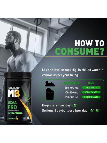 Muscleblaze Bcaa Pro 0.99 Lb Muscle Recovery-GREEN APPLE-0.99 Lbs-2