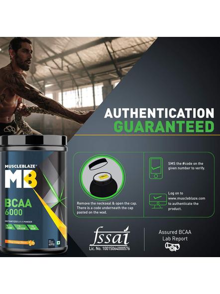Muscleblaze Bcaa 6000 400 G Muscle Recovery-ORANGE-400 g-2