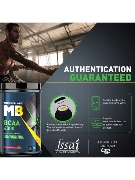 Muscleblaze Bcaa 6000 400 G Muscle Recovery-WATERMELON-400 g-2