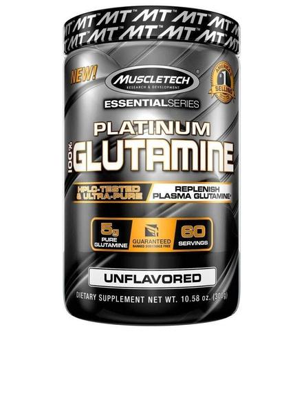 Muscletech Essential Series Platinum 100% Glutamine - 300g-800