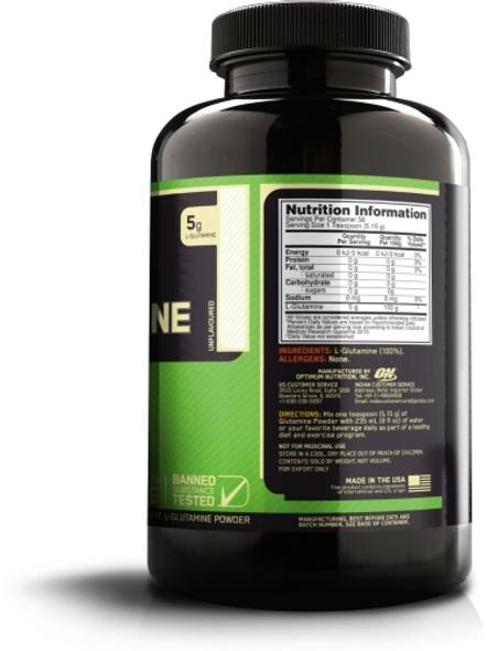 Optimum Nutrition Glutamine Powdered Supplement 300 G (unflavored)-UNFLAVORED-300 g-1