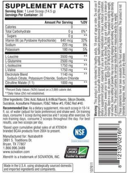 Scivation Xtend Bcaas New Muscle Recovery 390 g-405 g-GLACIAL GRAPE-2