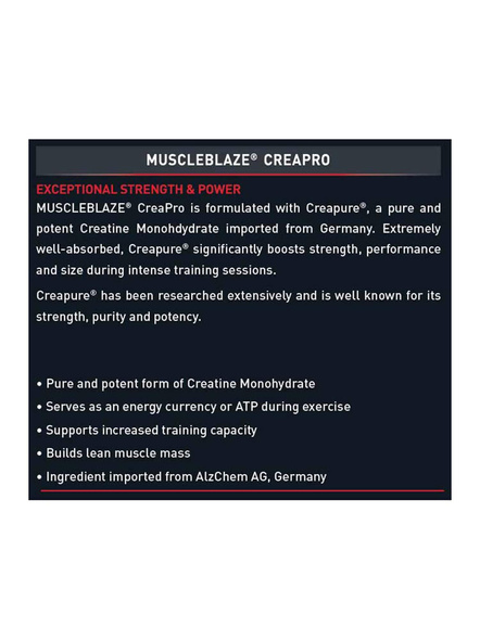 Muscleblaze Creatine With Crepure 0.55 Lb Muscle Booster-UNFLAVORED-0.55 Lbs-2
