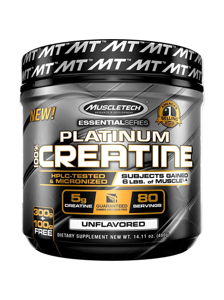 Muscletech Essential Series Platinum Creatine (5g Creatine, 80 Servings) – 400g-786