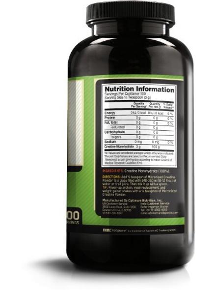 Optimum Nutrition Micronized Creatine Powdered Supplement 300 G (unflavored)-UNFLAVORED-1