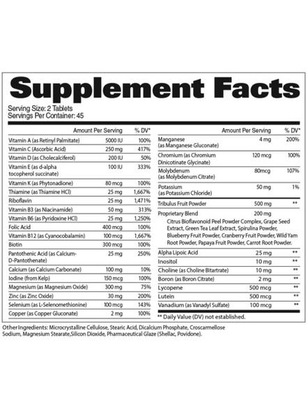 Gat Multivitamin+test Minerals And Multivitamins 60 Tab-NA-90 Tab-1