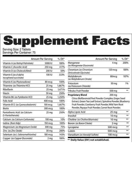 Gat Multivitamin+test Minerals And Multivitamins 60 Tab-NA-150 Tab-1
